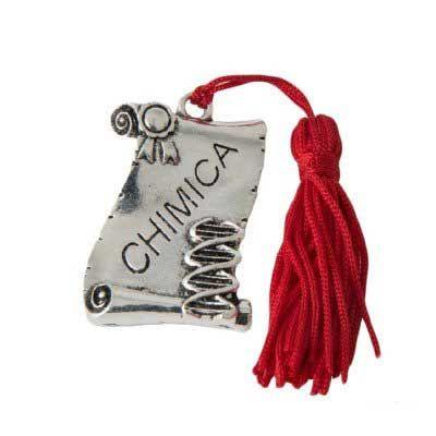 Bomboniere laurea online Pergamena Facoltà Chimica con nappa rossa  Pergamena incisa per festeggiare la tua Laurea aa08efbce27c