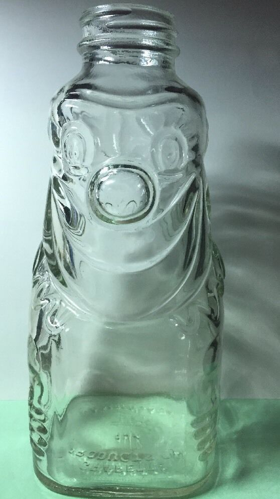 large glass bottle coin bank