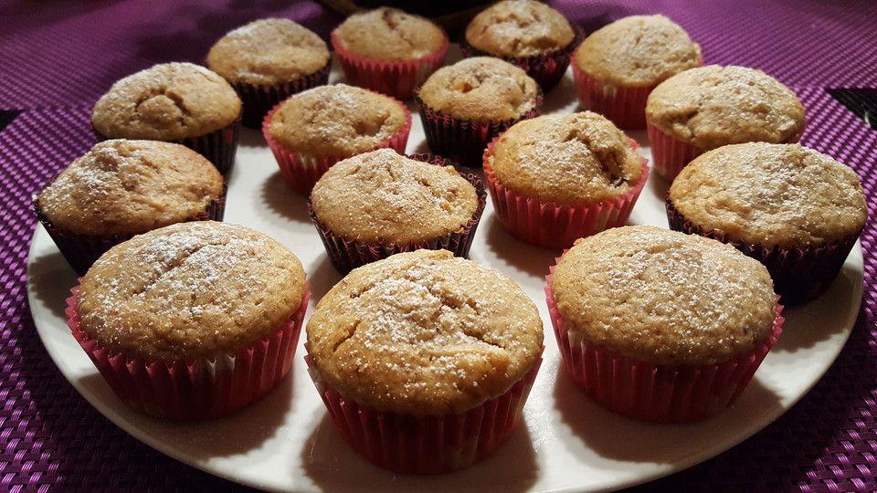 Zimtige Apfel - Muffins #apfelmuffinsrezepte