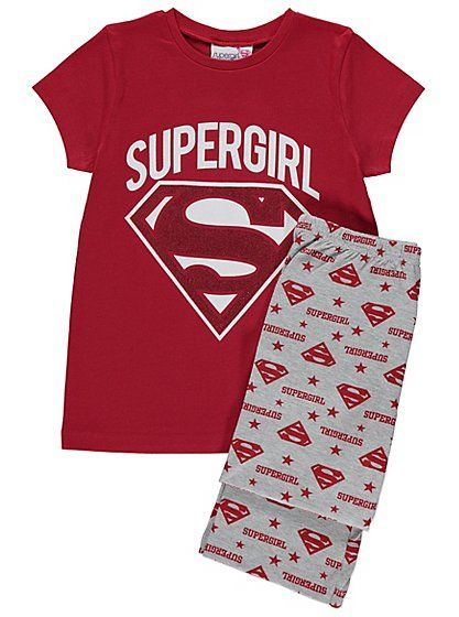 1d84d14a98cf6 Supergirl Pyjamas | Kids | George at ASDA | PJ's | Kids pajamas ...
