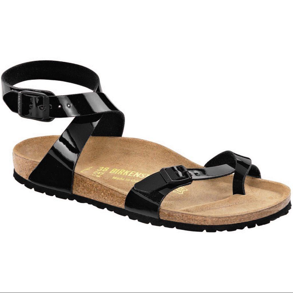 Birkenstock Shoes   Black Patent Birkenstock Yara Sandals