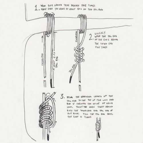 how to hang a tree swing with a rope how to hang a tree swing with a rope   outdoor   pinterest      rh   pinterest