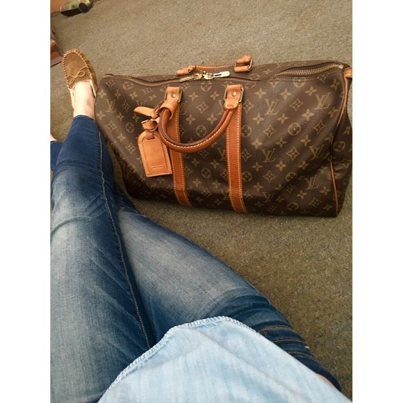 AUTHENTIC LOUIS VUITTON LV KEEPALL 45 DUFFLE BAG This is a gorgeous vintage Louis  Vuitton Keepall 3a02f754f751d