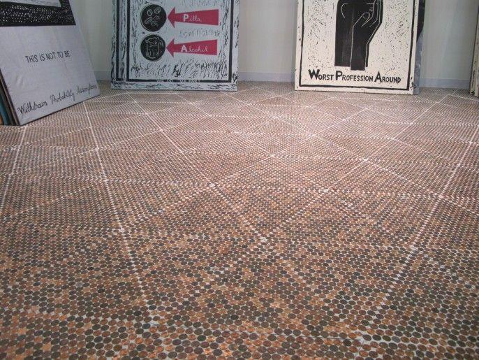 Penny Floor Pennies In 2019 Penny Floor Designs Penny Tile