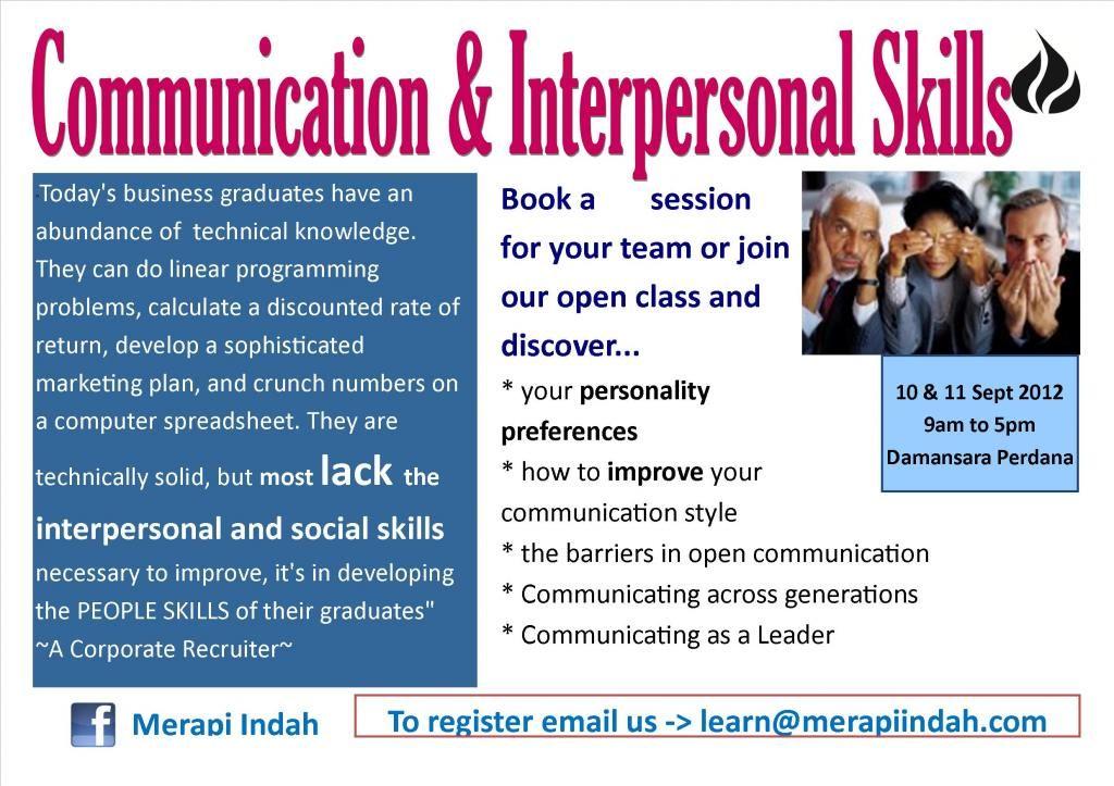 Communication And Interpersonal Skills Interpersonal Skills Interpersonal Interpersonal Communication
