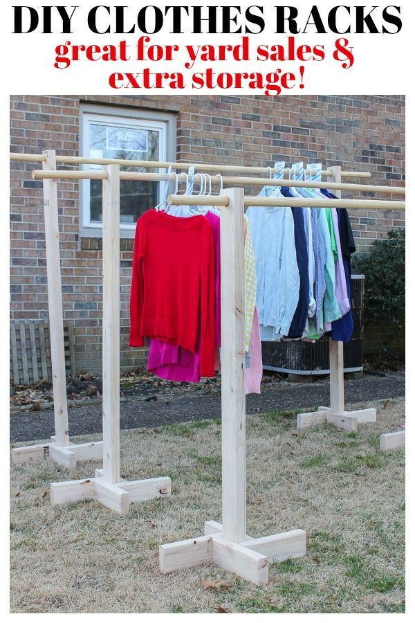 DIY Clothes Rack for Garage Sales and Yard Sales -   19 DIY Clothes Organization projects ideas
