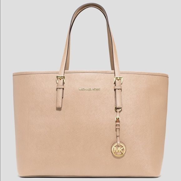 Michael Kors Jet Set Saffiano Leather Tote Purchased, used once and kept in dust bag. In perfect condition! If you want to bundle with other items I will lower price! Michael Kors Bags Totes