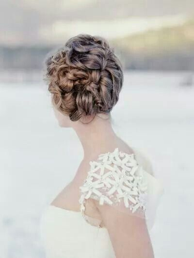 Winter wedding style hair styles and accessories pinterest do it yourself hairstyle braided up do and flower detailed wedding dress solutioingenieria Image collections