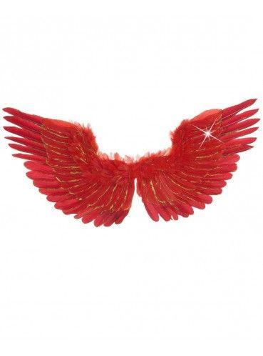 Røde vinger med fjer