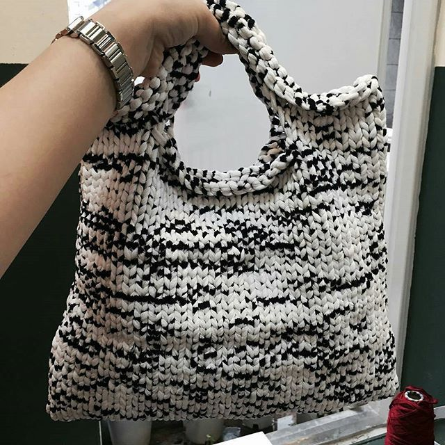 сумка связанная из пряжи