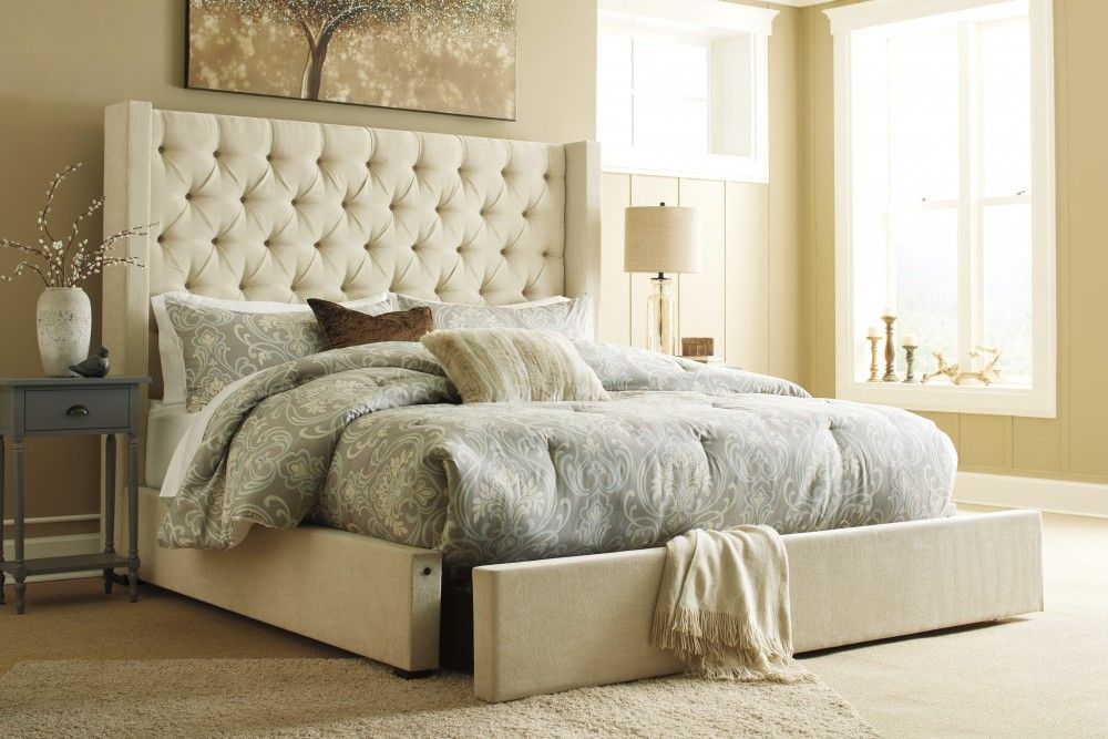 Norrister Queen Upholstered Bed with Storage B599B18