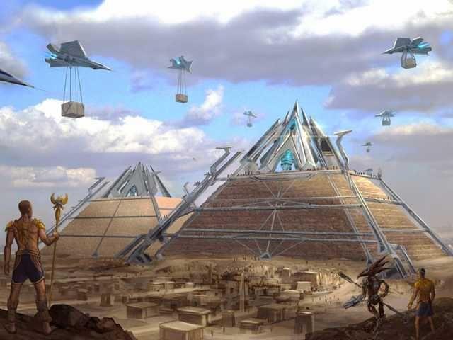 Imagen explicacion de la cámara en la Pirámide de Giza