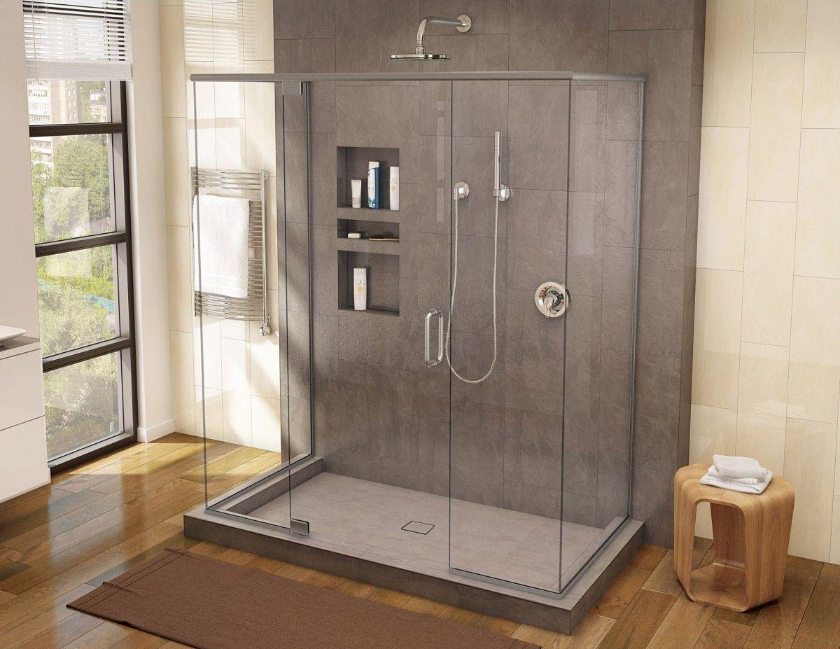 Wonder Drain Triple Curb Shower Pan With Tileable Center Drain
