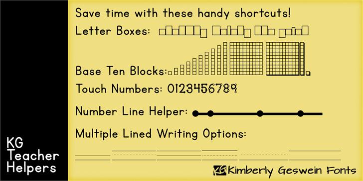 KG Teacher Helpers Font   want this please   Teacher helper