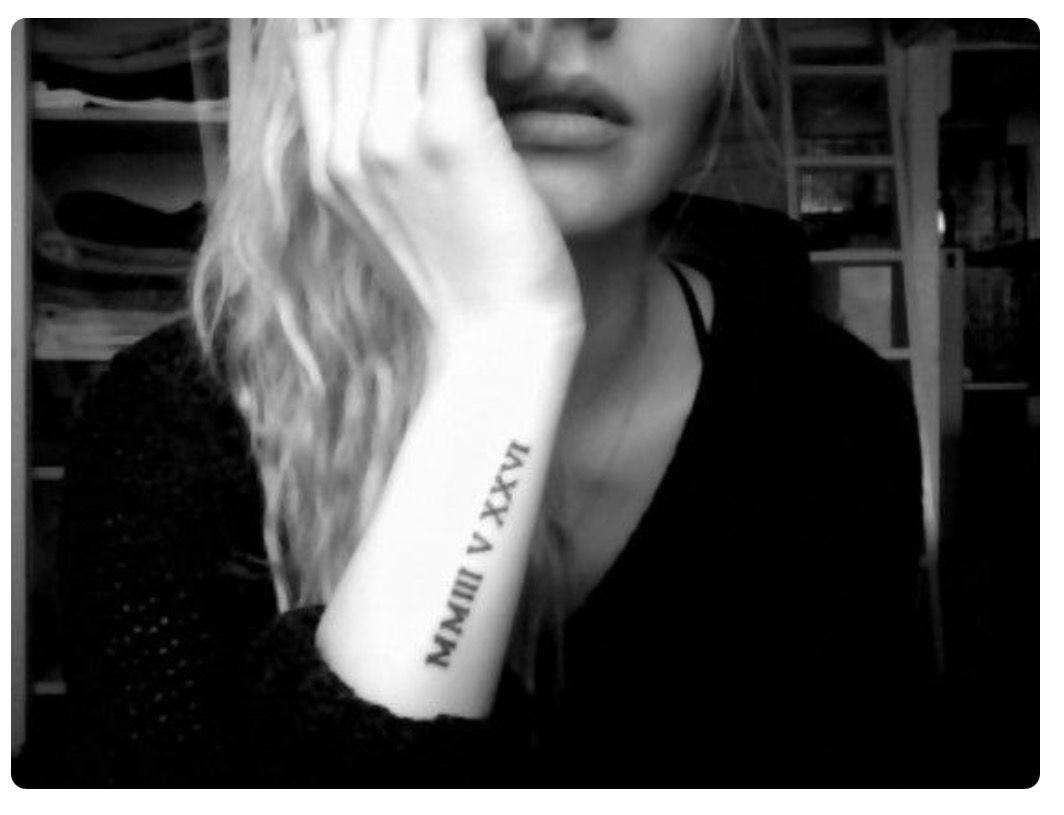 Tattoo Roman numeral tattoos, Side arm tattoos, Number