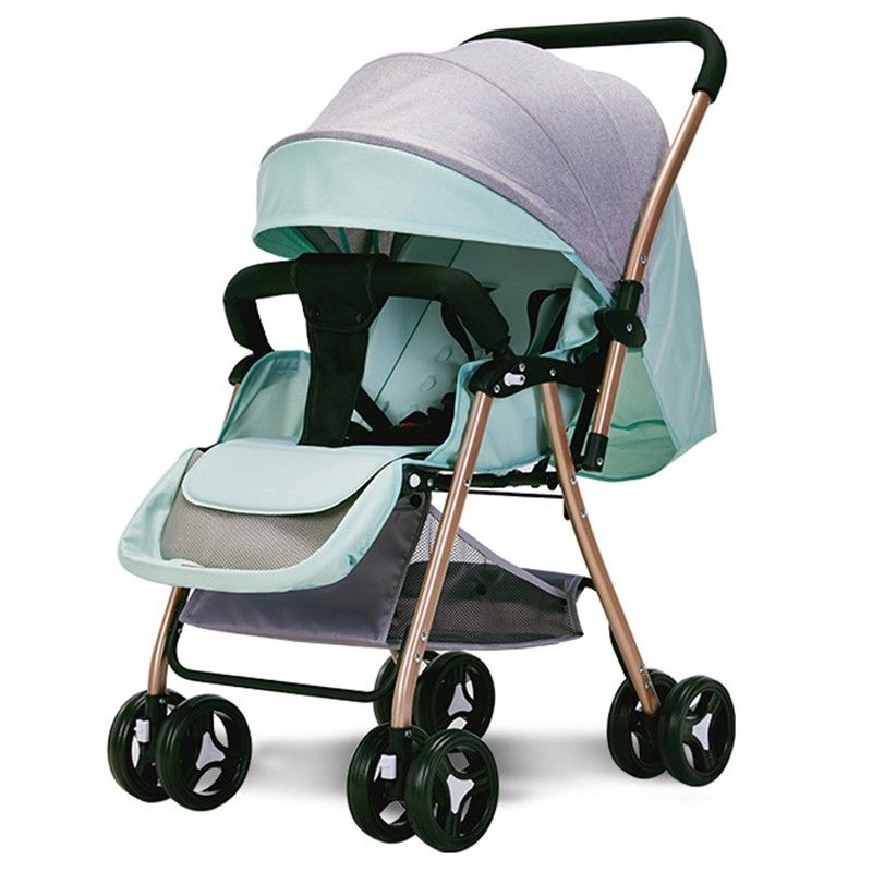 516A Twoway Sitting Reclining Stroller Blue Hosta