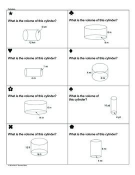 Volume Of Cylinders Cones And Spheres Worksheet Pre ...