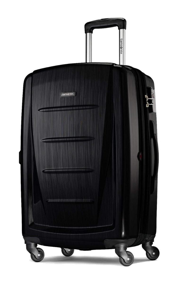 Samsonite Winfield 2 Hardside 24 Luggage Brushed Black Best Suitcases Samsonite Luggage