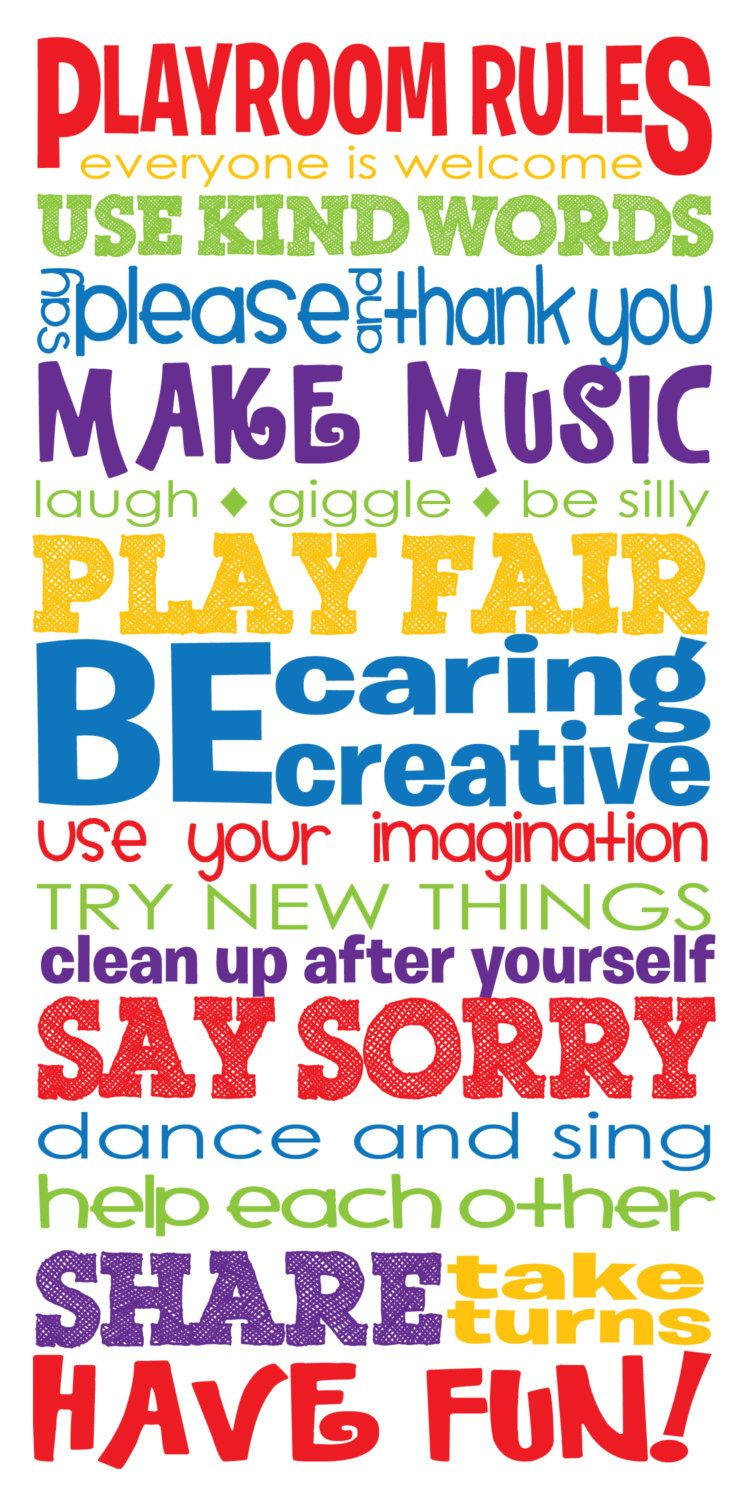 Personalised Play Room Rules Plaque Children Child Home Fun Kids Sign Family