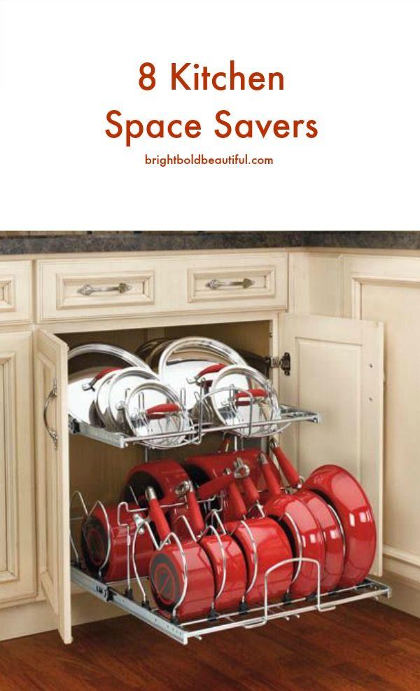 8 Kitchen Space Savers Home Organization Kitchen Organization