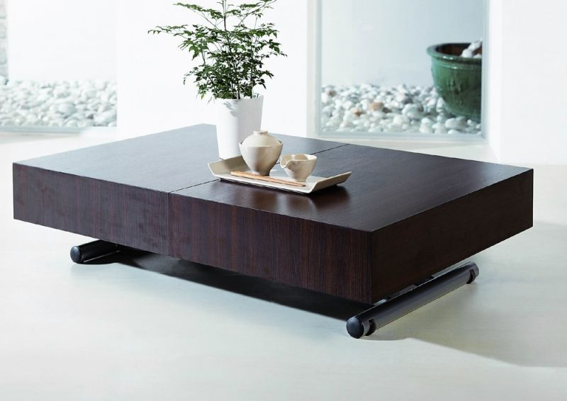 Table basse relevable extensible ella wenge tables relevables topkoo shopping list - Tables relevables extensibles ...