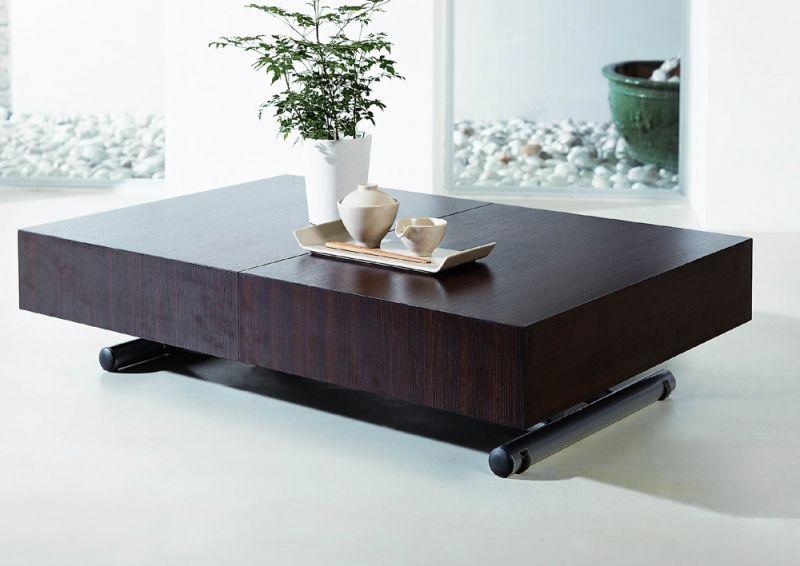 Table basse relevable extensible ella wenge tables - Tables basses relevables extensibles ...