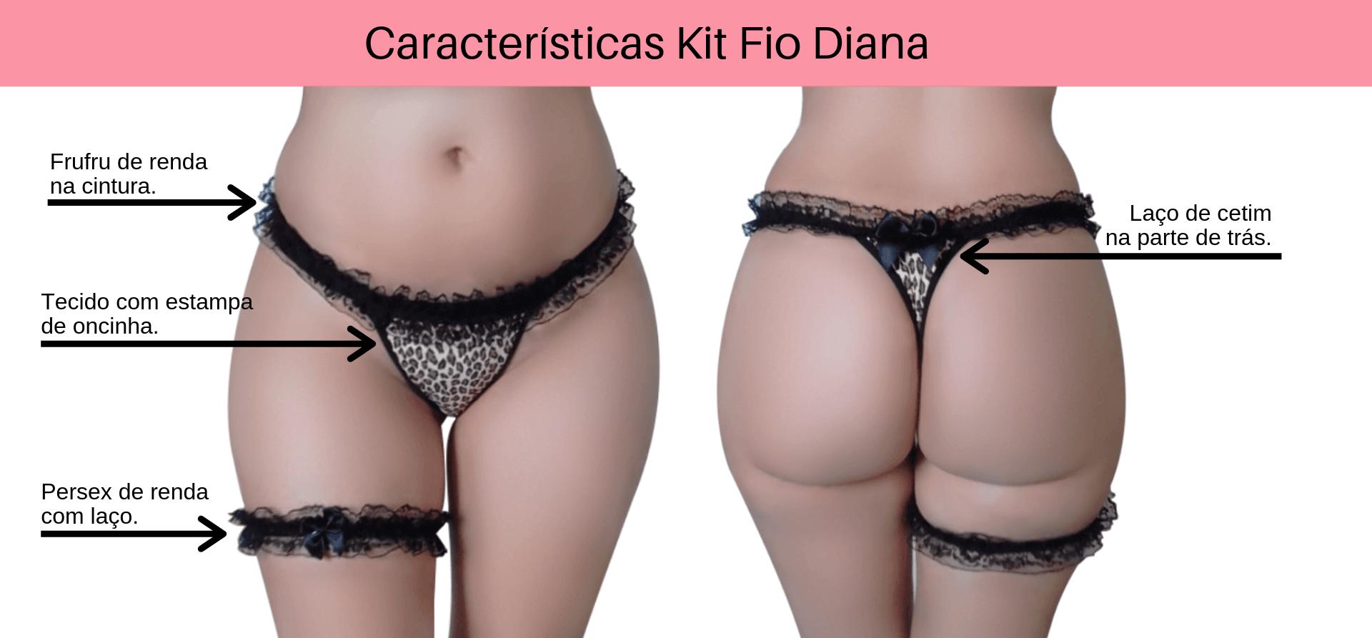 0a0c97838 Kit Calcinha Fio Dental com Frufru de Renda Diana - Sua Loja de Calcinhas  Sexy