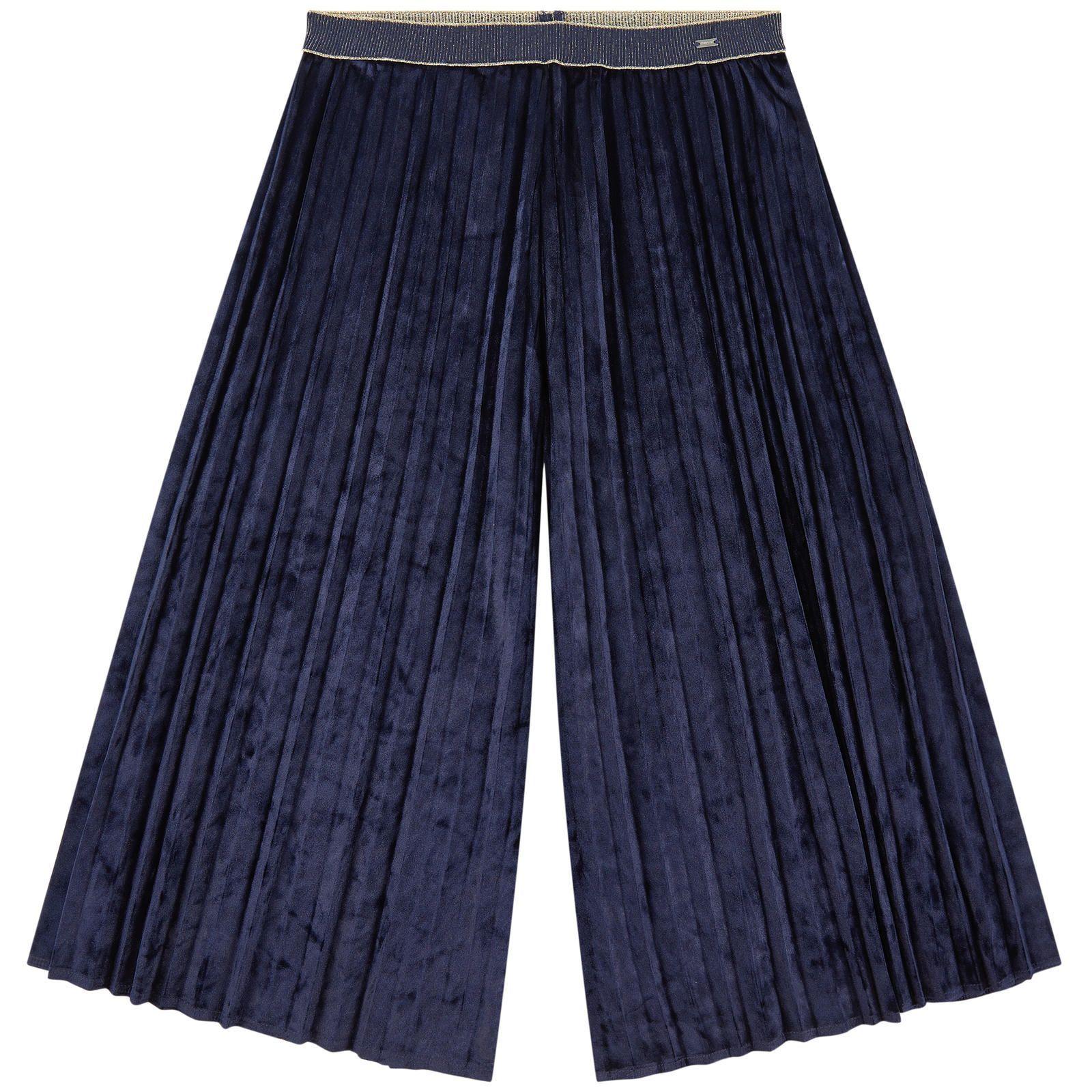 Pantalon jupe-culotte en velours Mayoral Bleu Velours : 95% Polyester 5% Elasthanne Lavage en machine à 30°C