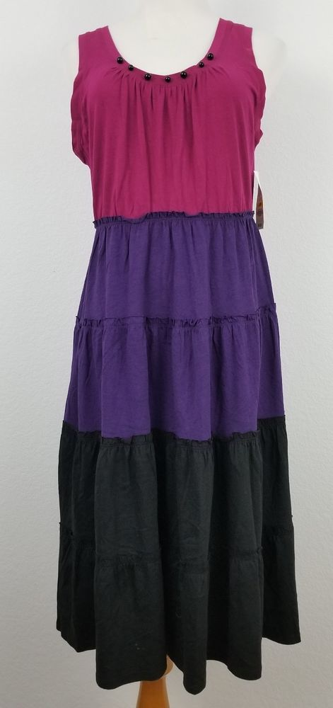 6dbf6f522bf6d Charter Club Dress Womens size M Sleeveless Stretchy Cotton Blend Purple  NWT  64  fashion