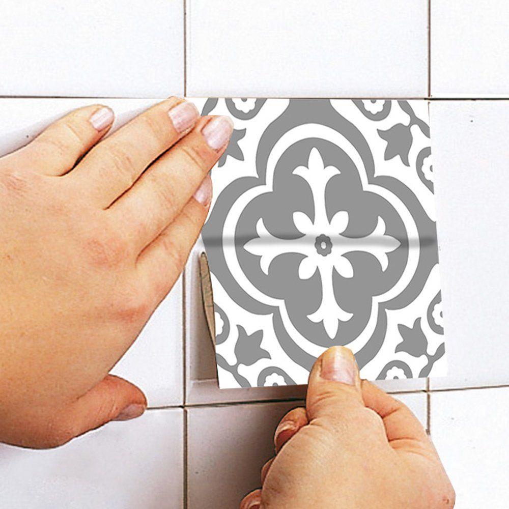 Vinyle Adhésif Pour Sol vinyle de plancher - carreaux marocain - vinyle carrelage