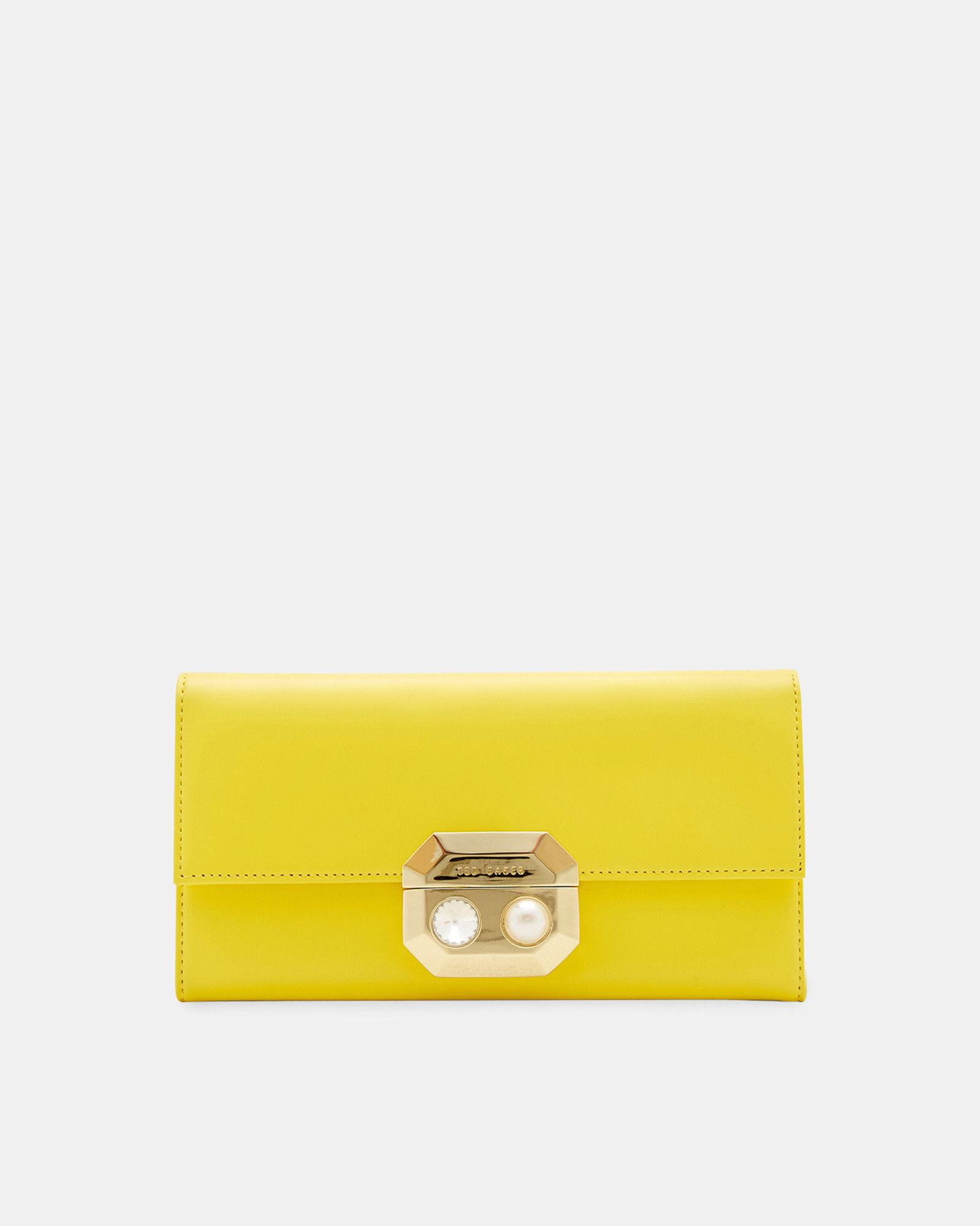 89e78029333fe Pearl and crystal leather purse - Yellow