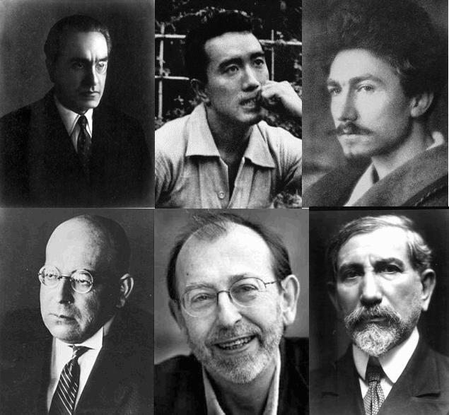 Julius Evola Yukio Mishima Ezra Pound Oswald Spengler Alain De