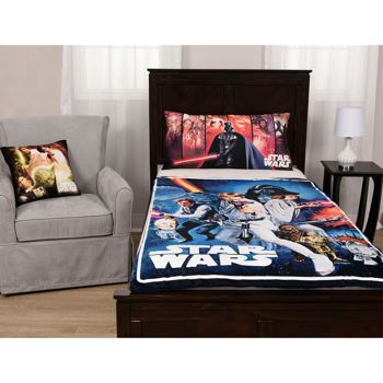 Star Wars Faux Mink And Sherpa Blanket Body Pillow And Decorative