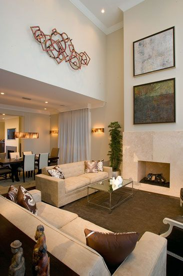 Living Dining Room Combination Use Of Double Height Wall Space For Art Transitional Living Rooms Dream Living Rooms Transitional House Double height dining room design