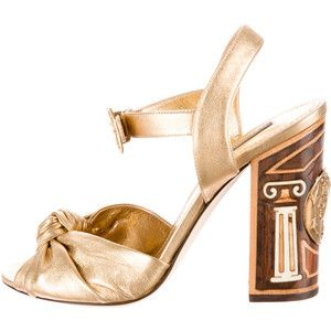 Pre-owned - Leather sandals Dolce & Gabbana glcNk