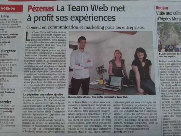 Merci Midi Libre pour ce sympathique article ! (Avril 2014)