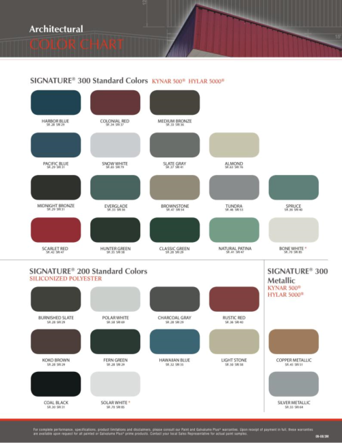 American Steel Buildings Color Charts Barn In 2018 Pinterest