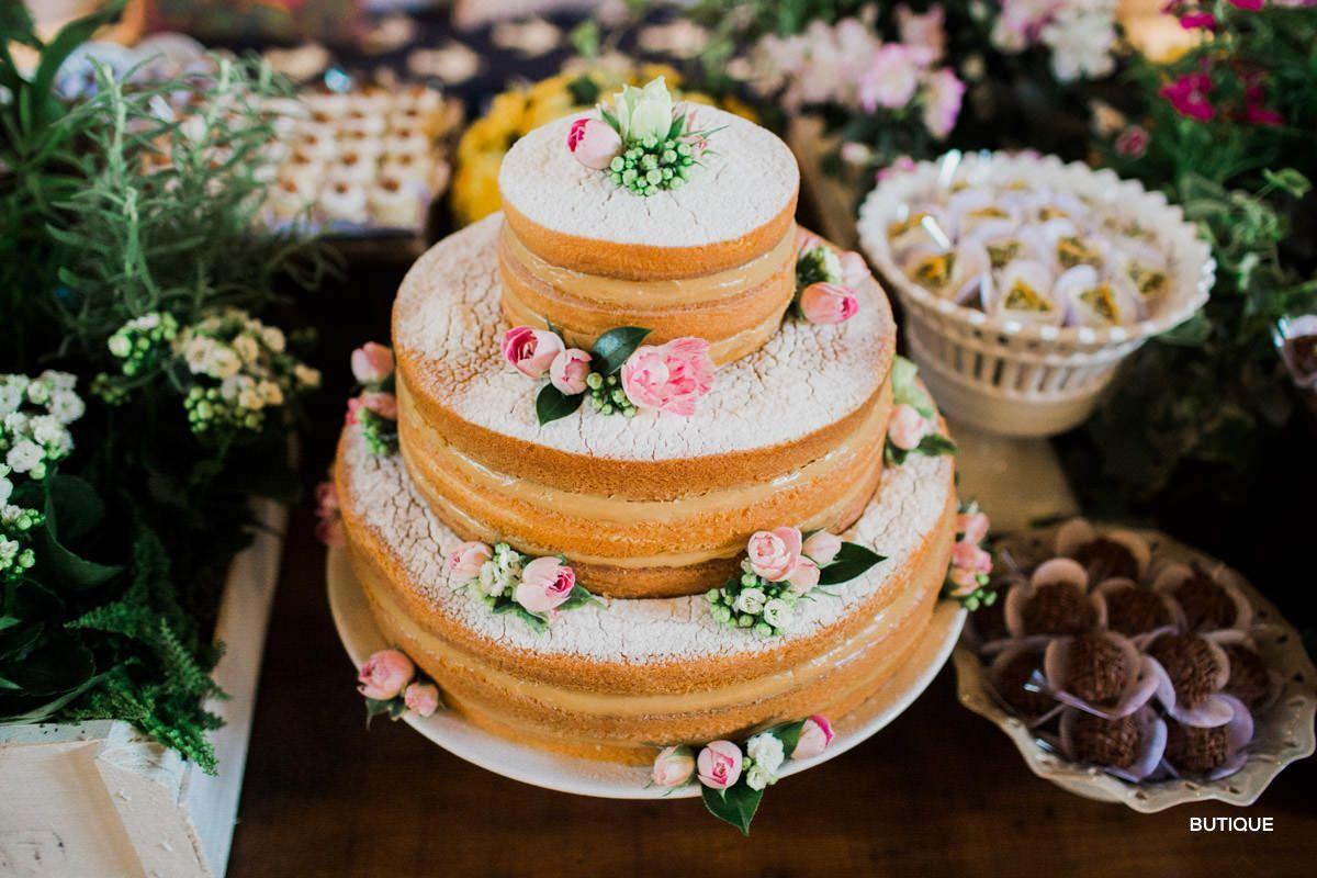 Bolo Naked Cake Casamento dia