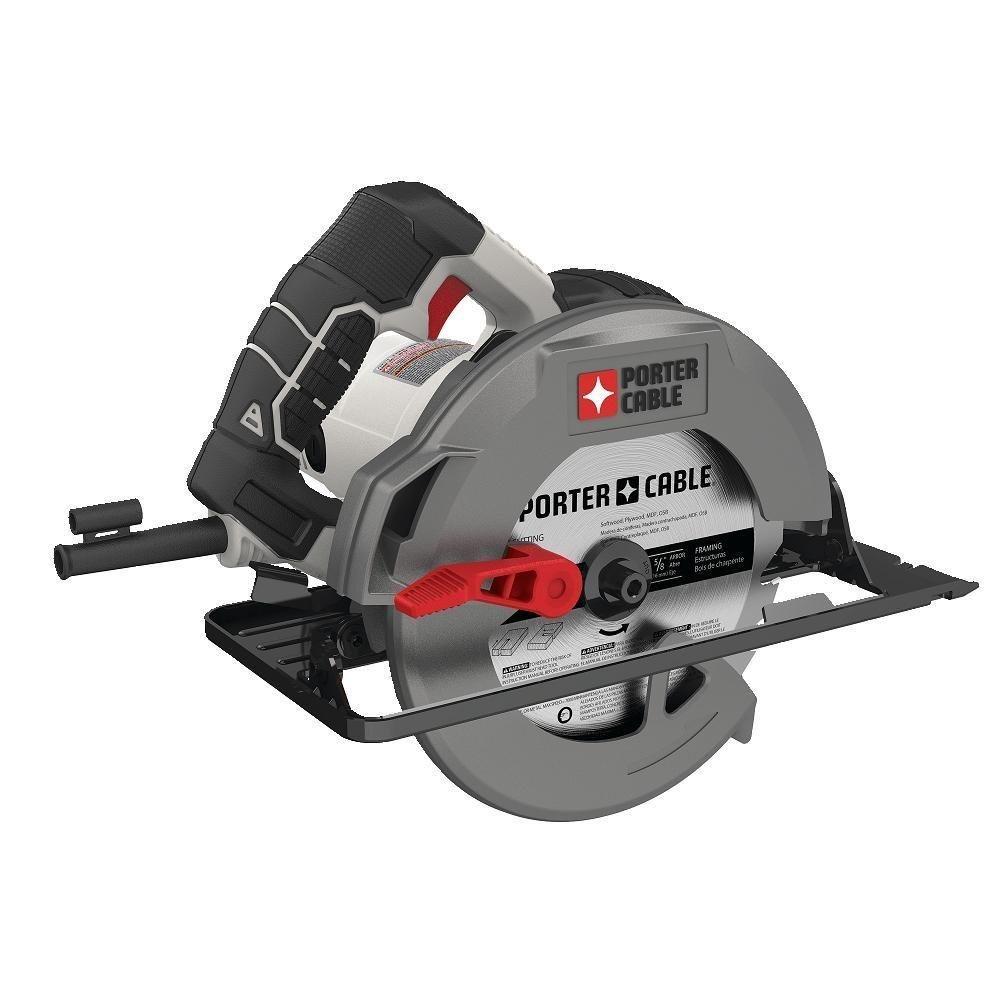 Porter Cable Pce300 Heavy Duty Steel Shoe Circular Saw 15 Amp 7 1 4 Porter Cable Best Circular Saw Circular Saw