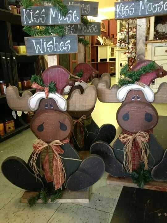 Wood Craft Moose Christmas Crafts Christmas Yard Art