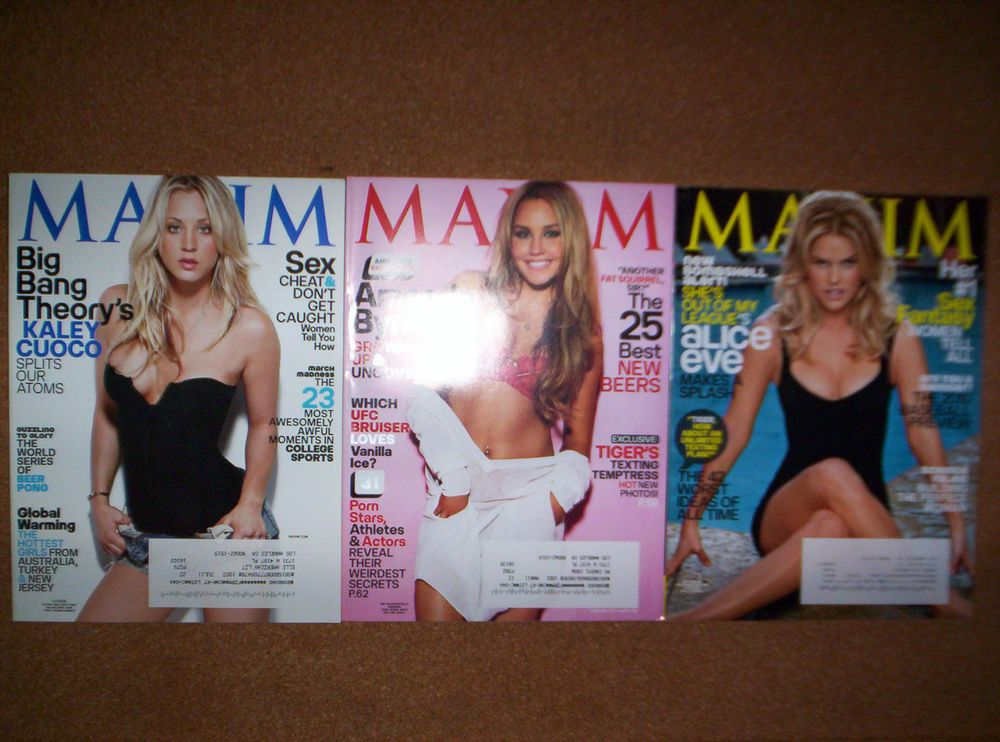 Kaley Cuoco Amanda Bynes Alice Eve 3 Maxim Magazines Have