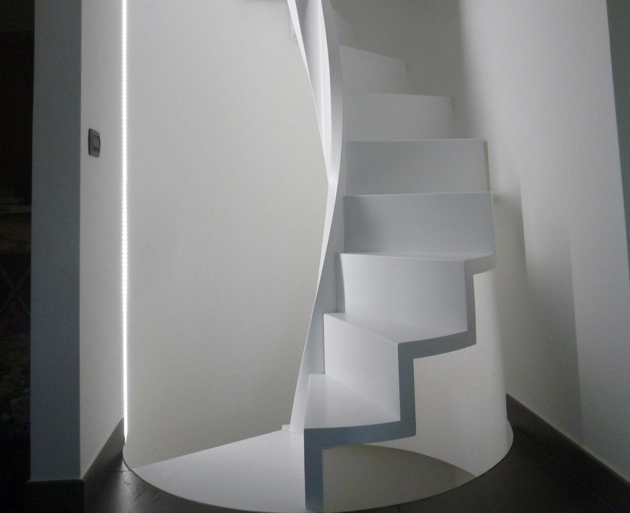 Progettazione Scale A Chiocciola : Scale a chiocciola e elicoidali staircase railing handrail