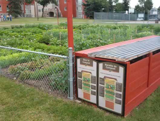 Jardin communautaire / Community Garden Campus Saint-Jean - complete with fancy composters!