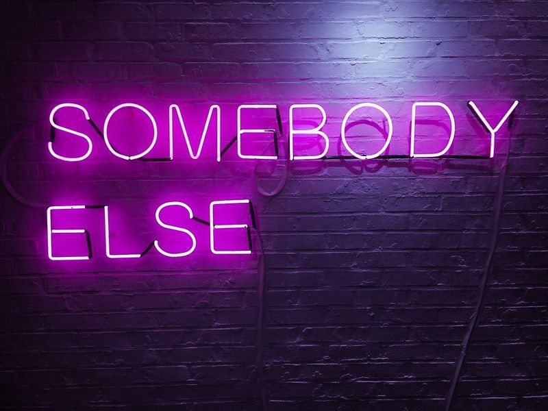The 1975 Neon Sign Interesting The 1975 Somebody Else Neon Signpastelsara  Neon Expressions 4 Decorating Inspiration