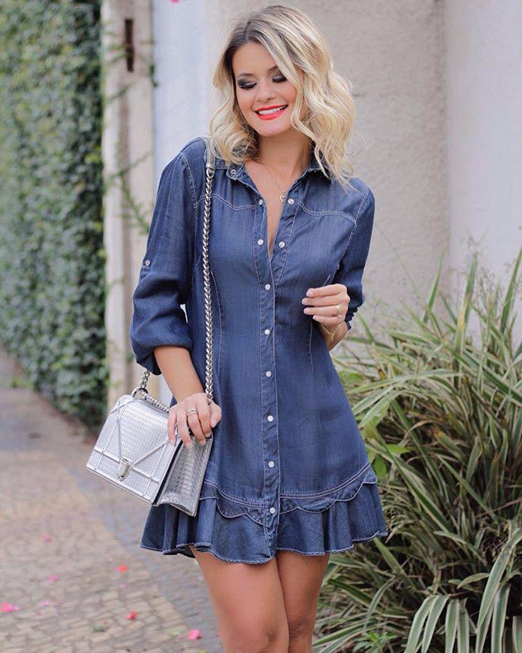 3b34d4ddea53 @maridalla, a nossa blogger lindaaaa em mais uma fotinho com nossa chemise  jeans de