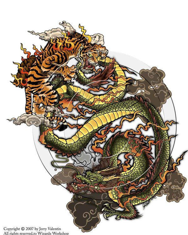 Tiger Vs Dragon By Thetruefoldedsteel On Deviantart Dragon Tiger Tattoo Japanese Dragon Tattoos Becoming A Tattoo Artist