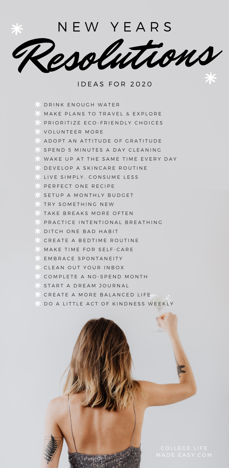 70 Truly Good New Year S Resolution Ideas For 2020 New Years Resolution List Good New Year S Resolutions Resolution List