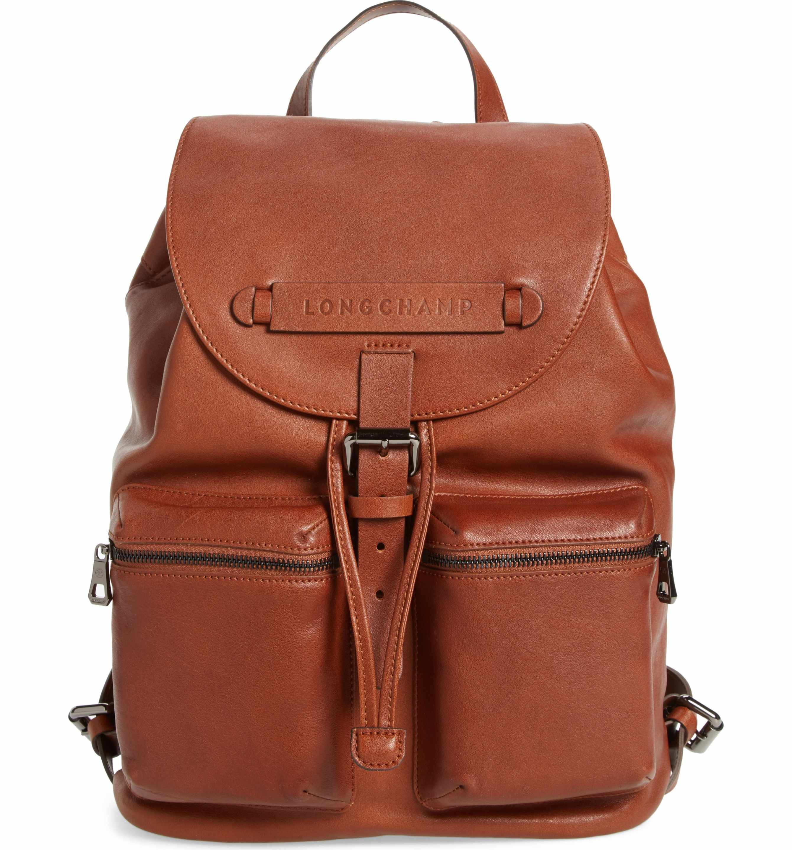 502cb1adbf5f Main Image - Longchamp Medium 3D Leather Backpack