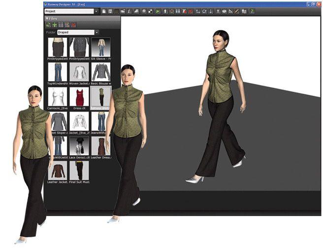 3D Runway Designer Logiciel patronage \ logiciel stylisme mode