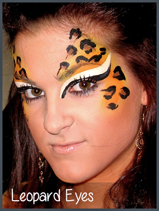 Leopard Eyes Face Painting By Mimicks Png 323 428 Face Painting Designs Leopard Face Paint Face Painting Easy